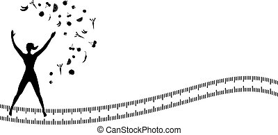Silhouette background with jumping