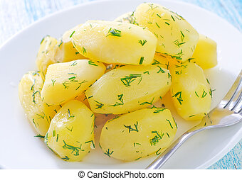 boiled potato