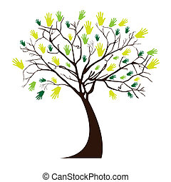 hands tree
