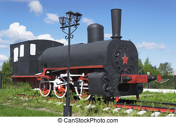Russian industrial locomotive beginning of the 1900s has...