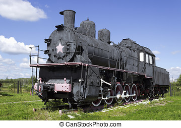 Russian steam locomotive from the early 20th century