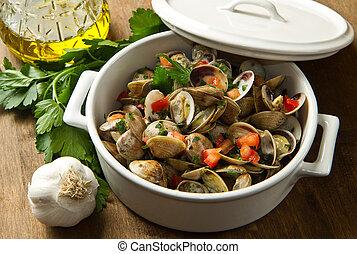 delicious clams soup