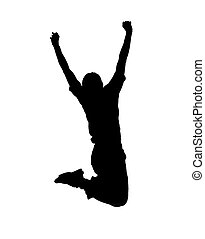guy in jump - Young guy in jump on white background