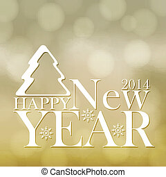 Happy New Year background - Golden Happy New Year background