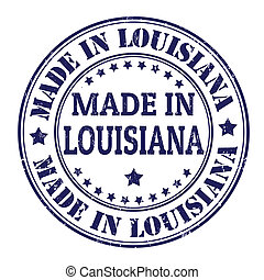 Made in Louisiana stamp - Made in Louisiana grunge rubber...