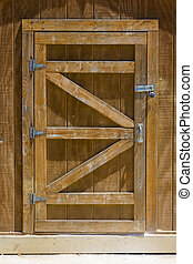 Shed Door - Locked Wooden Shed Door