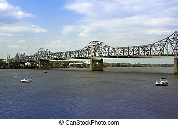 Cantilever Bridge in Peoria on a Summer Day