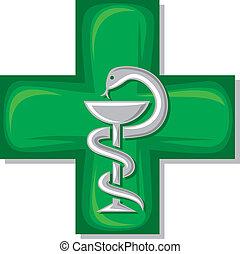 medical cross symbol (emblem for drugstore or medicine,...