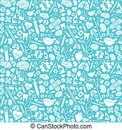 seamless pattern with medical icons (medical background,...