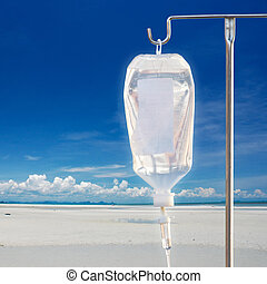 IV fluid - Intra venous fuid with stand with nature...