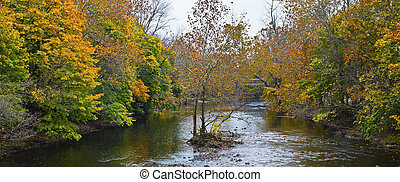 Raritan River Panorama - A panoramic view of the Raritan...