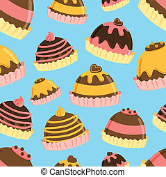 Chocolate truffles pattern