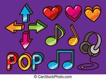 Colorful music icon