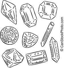 gemstones doodle