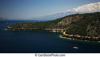 The coastline of Kefalonia