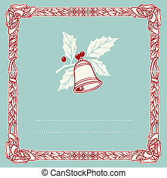 vintage typographic christmas bell,