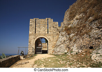 Entrance to Ayios Georgios Castle Kefalonia Greece
