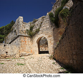 Archway at Ayios Georgios Castle Kefalonia Greece