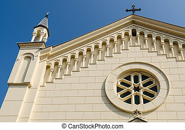 Roman Catholic Church Details - Roman Catholic Church Facade