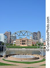 Skyline of Des Moines, Iowa - Skyline of Des Moines Iowa...