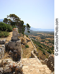 Stunning view from Ayios Georgios Castle Kefalonia Greece