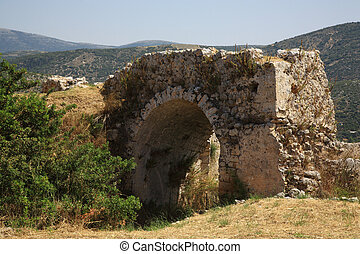 Old Archway at Ayios Georgios Castle Kefalonia Greece