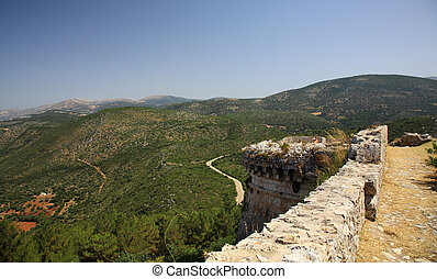 View to the hills from Ayios Georgios Castle Kefalonia...