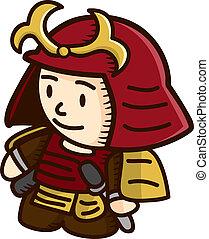 samurai warrior cartoon