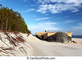Bunker on beach