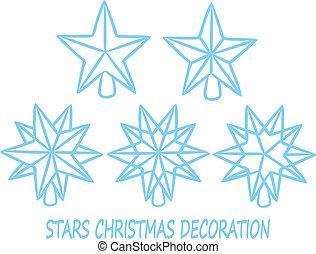 stars christmas decoration