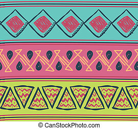 tribal motif seamless pattern