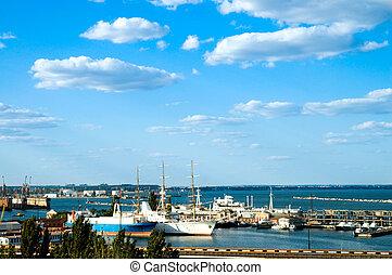 marine port in Odessa, ukraine