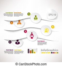 Modern infographic template for business design with divide
