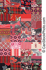 collection of quilt backgrounds - red