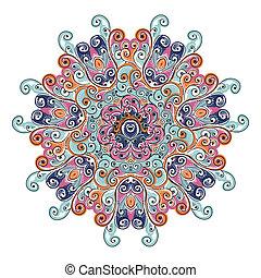 colorido, arabesco, ornamento, su, diseño