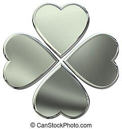 metal 4 leaves clover