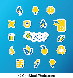 Set of ecology icons.