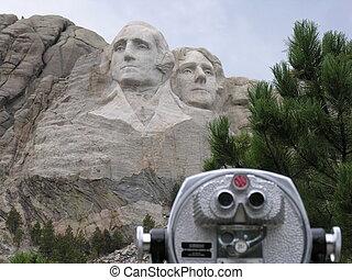 Presidential faces at Mt. Rushmore National Memorial,...
