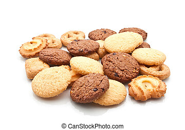 Assorted cookie isolated on white