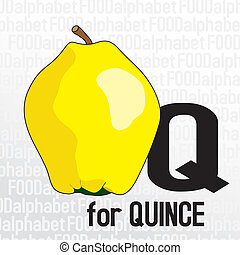 Q for quince, the food alphabet