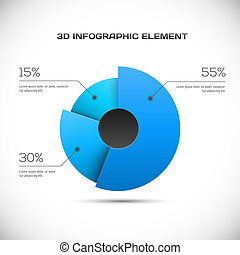 3D Infographic design vector illustration
