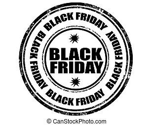 Black Friday-stamp - Grunge rubber stamp with text Black...