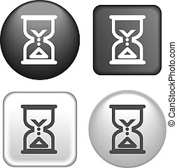 hourglass Icon on Buttons Collection