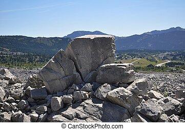 Huge Boulders from Frank Slide - Huge rocks from Frank Slide...