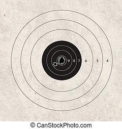 shoot target missing one shot - gun shoot to the shooting...