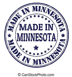 Made in Minnesota stamp - Made in Minnesota grunge rubber...