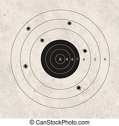 shoot target missing - gun shoot to the shooting target...