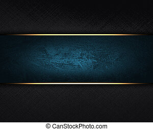 Black background with a blue nameplate. - The template for...