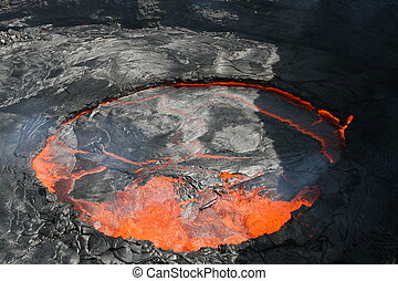 Volcano Erta Ale in Ethiopia Africa a rare volcano with an...