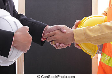 Engineer discuss and present his job for prepare to do...